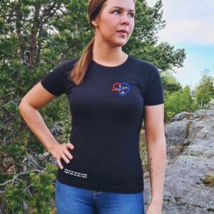 T-skjorte dame (liten logo)